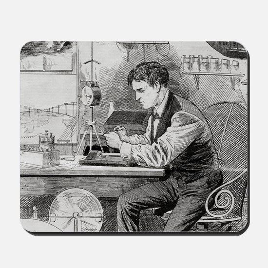 Thomas Edison, US inventor Mousepad