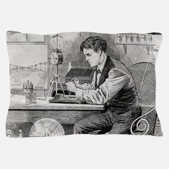Thomas Edison, US inventor Pillow Case