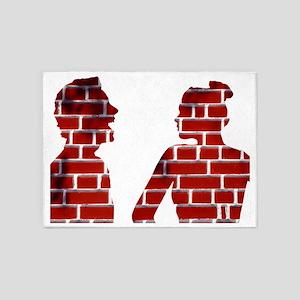 Arguing couple, conceptual image 5'x7'Area Rug