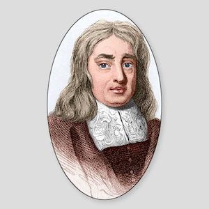 Thomas Sydenham, English physician Sticker (Oval)