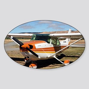 Plane: high wing Sticker (Oval)