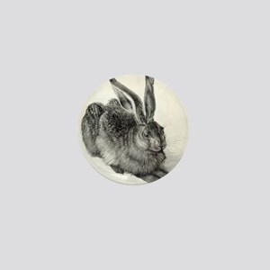 Young hare, by Durer Mini Button