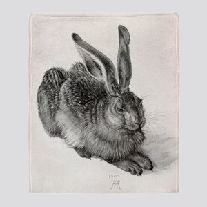 Young hare, by Durer Throw Blanket