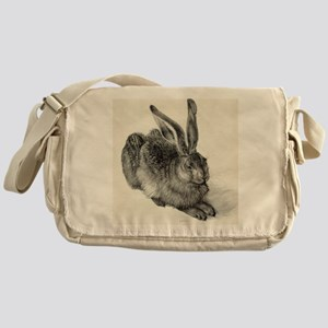 Young hare, by Durer Messenger Bag