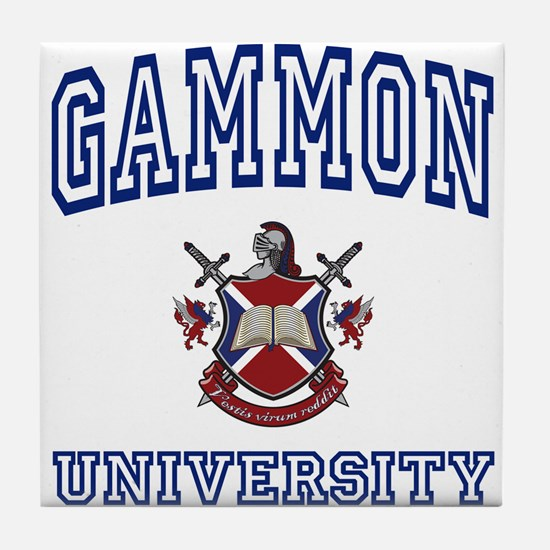 GAMMON University Tile Coaster