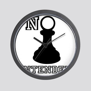 No Pawn Intended Wall Clock