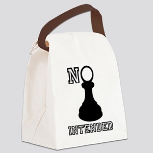 No Pawn Intended Canvas Lunch Bag