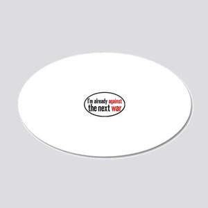 againstwaroval 20x12 Oval Wall Decal