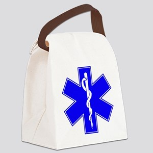 ems star of life Canvas Lunch Bag
