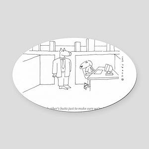 DOG CUBICLE Oval Car Magnet