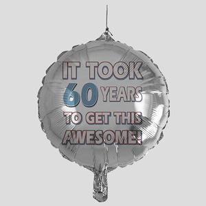 60 year old birthday designs Mylar Balloon