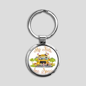 School bus driver Round Keychain