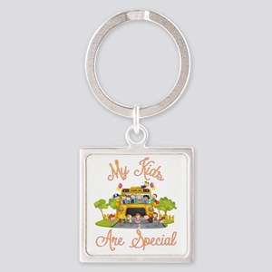 School bus driver Square Keychain