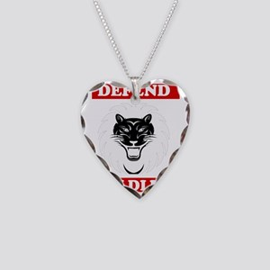 Defend Wildlife Necklace Heart Charm