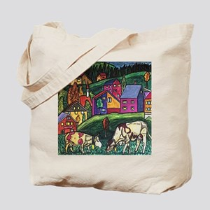 Cow Art Tote Bag