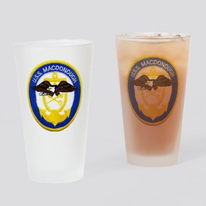 uss macdonough patch transparent Drinking Glass
