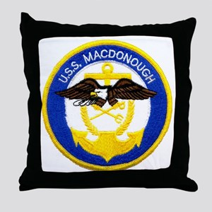 uss macdonough patch transparent Throw Pillow