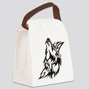 Tribal Wolf 3 Canvas Lunch Bag