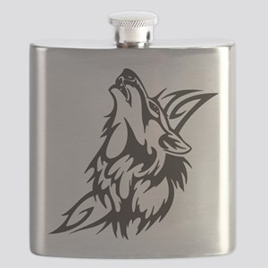 Tribal Wolf 3 Flask