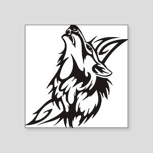 "Tribal Wolf 3 Square Sticker 3"" x 3"""