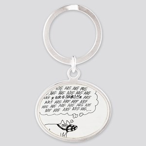 ARF DOG Oval Keychain