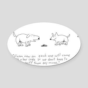 BAR CODE DOG Oval Car Magnet