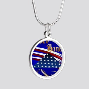 Ever Honor Silver Round Necklace