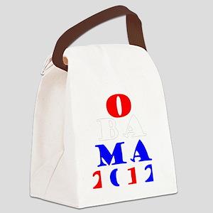 Obama2012Drk Canvas Lunch Bag