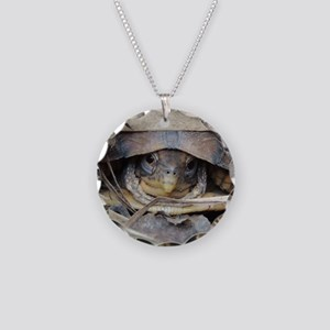 CamoTurtle Necklace Circle Charm