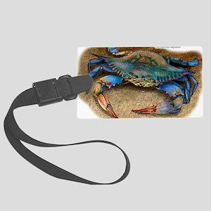 Atlantic Blue Crab Large Luggage Tag