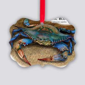 Atlantic Blue Crab Picture Ornament