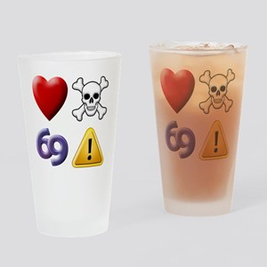 Love Hate Sex Pain Drinking Glass