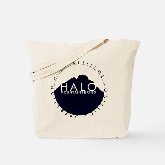 Halo Mountaineering Logo Black Tote Bag