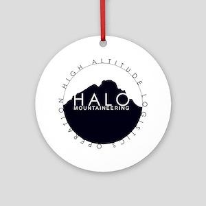 Halo Mountaineering Logo Black Round Ornament