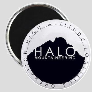 Halo Mountaineering Logo Black Magnet