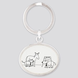 DOG  PONY SHOW Oval Keychain