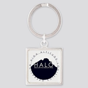 Halo Mountaineering Logo Black Square Keychain