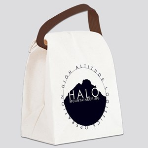 Halo Mountaineering Logo Black Canvas Lunch Bag