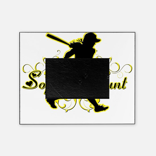 Softball Aunt (silhouette) Picture Frame