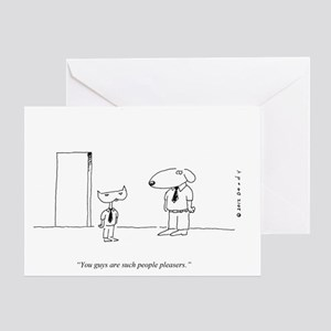 PEOPLE PLEASING DOGS Greeting Card