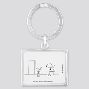 PEOPLE PLEASING DOGS Landscape Keychain