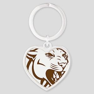 cougar9 Heart Keychain