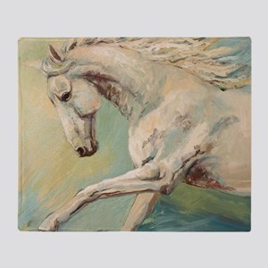 Free Style painting by Janet Ferraro Throw Blanket