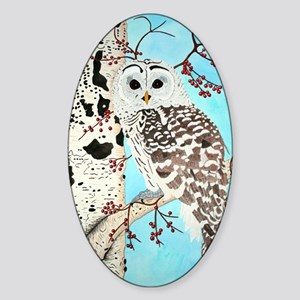 Barred Owl Sticker (Oval)