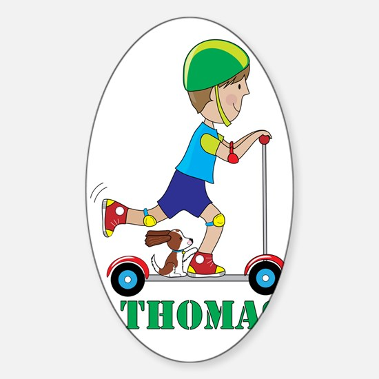 Scooter boy Sticker (Oval)