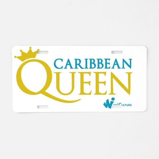 Caribbean Queen Aluminum License Plate