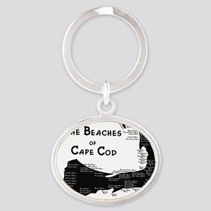 EVERY BEACH ON THE CAPE Oval Keychain