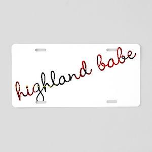 Highland Babe Aluminum License Plate
