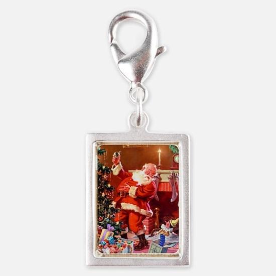 Christmas_Santa 1 Silver Portrait Charm