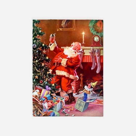 Christmas_Santa 1 5'x7'Area Rug